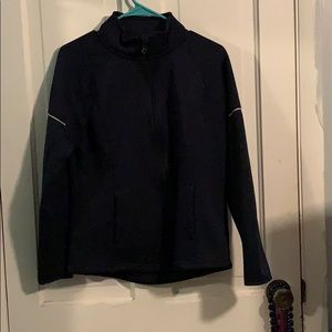 Blue jacket-zip up